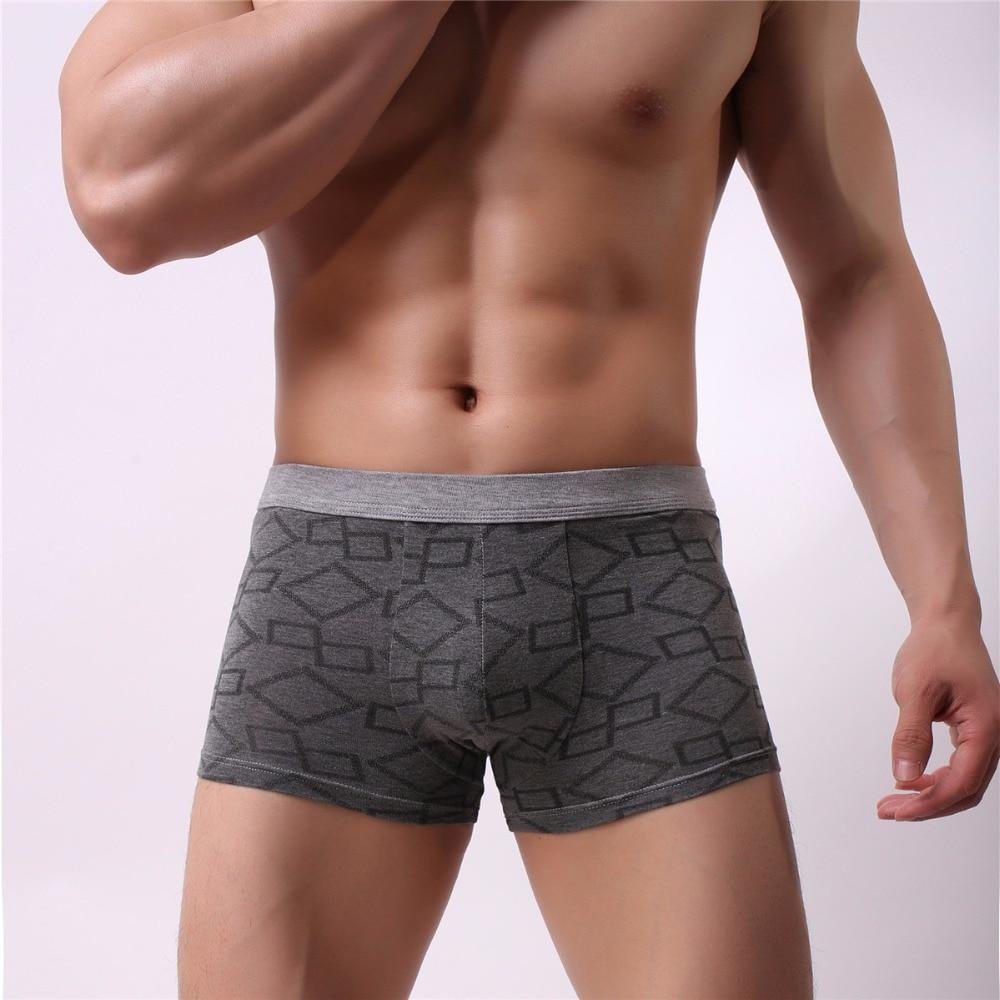 Nice Cotton Health Men Boxer Soft Breathable Underwear Male Comfortable Solid Panties Underpants Boxer Shorts Homme For Men 2019