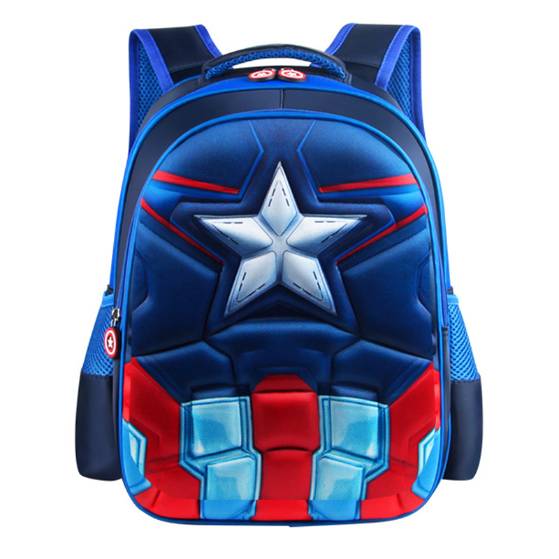children's bag Teenagers Student Waterproof Backpacks Multiple options Captain AmericaSpider Man Batman Superman|School Bags| |  - title=