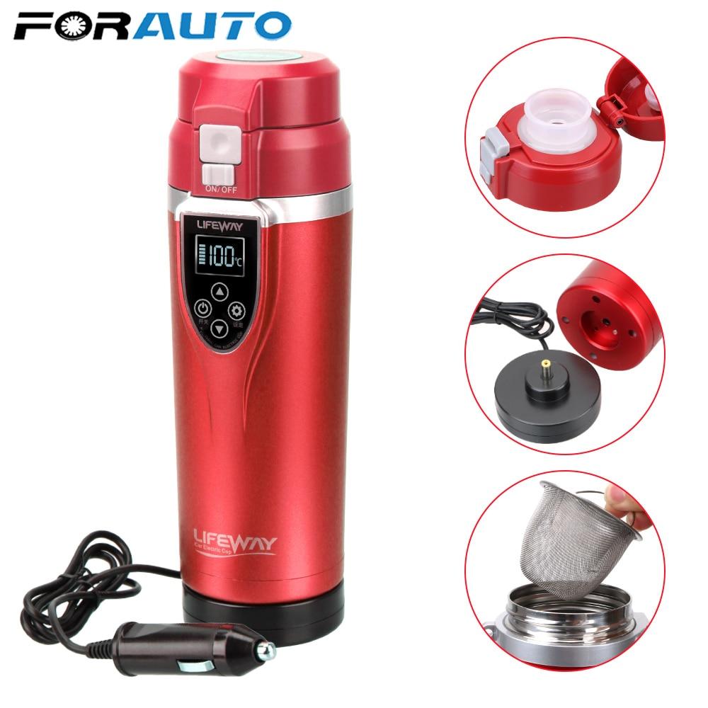 Portable car Heating Cup 350ML Adjustable Temperature Boiling Mug vehicle Electric Kettle coffee/tea/milk car travel accessories