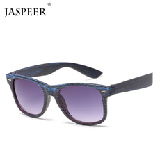 JASPEER Square Wooden Bamboo Sunglasses Men Women Retro Goggle Mirror Outdoor Sun Glasses UV400 Male Eyeglasses