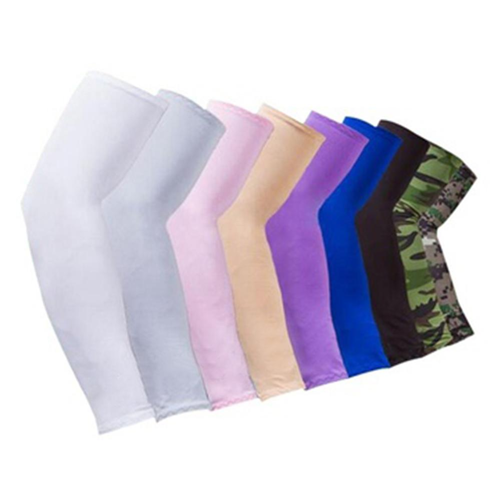 Cycling Sunscreen Anti-UV Arm Sleeves Ice Silk Fabric Basketball Volleyball Sleeves Sport Fitness Arm Warmers Outdoor Wea