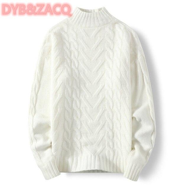 Мужской трикотажный свитер с круглым вырезом и длинным рукавом 4