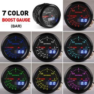 Image 2 - Dynoracing 2 52mm Dual Display 2BAR Turbo Boost gauge 7 colors Led Boost meter with Stepper Motor Car meter BX101496