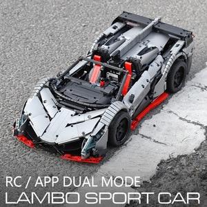 Image 4 - 3427PCS MOC RC Technic Car The Veneno Roadster Power Function Car model Building Blocks Bricks Kids DIY Toys Christmas Gifts