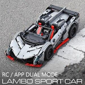 Image 4 - 3427PCS MOC RC TechnicรถVeneno Roadster PowerรถชุดBuilding Blocksอิฐเด็กDIYของเล่นคริสต์มาสของขวัญ