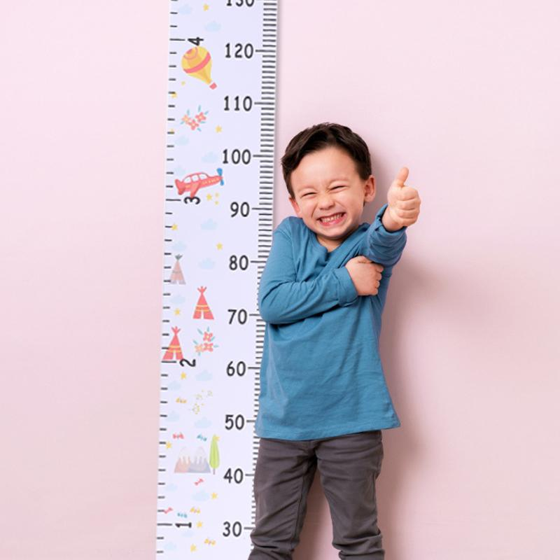 Hanging Canvas Height Ruler Baby Cartoon Height Measure Ruler Child Kid Wall Hanging Growth Chart Wall Measurement Ruler Record