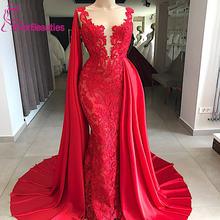 Длинное атласное кружевное вечернее платье русалки на заказ