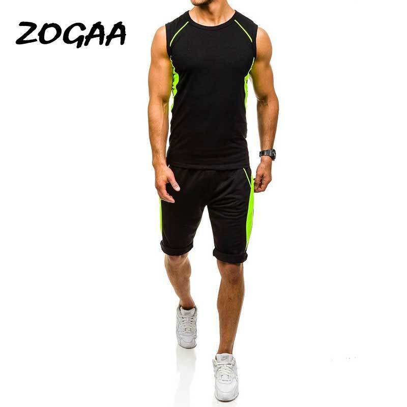 ZOGAA 2020 New Men Fashion Two Piece Set Male Casual Sportswear Sweatshirt & Pants Sets Men's Casual Running Tracksuit