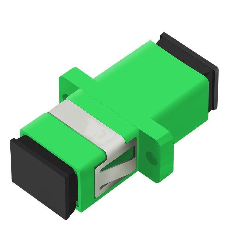 50pcs/lot SC/APC Connector Adapter Simplex  Single Mode Plastic Fiber Optic Adapter Fiber Optic Connectore