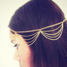 New Hair Accessories Multi-layered Chain Tassels Headbands for Women Fashion Hair Jewelry