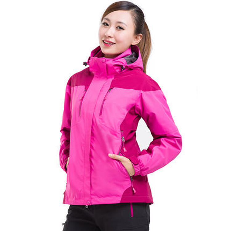 Autumn And Winter Plus-size Raincoat Jacket Men's And Women's Thick Fleece Three-in-One-Piece Outdoor Waterproof Breathable