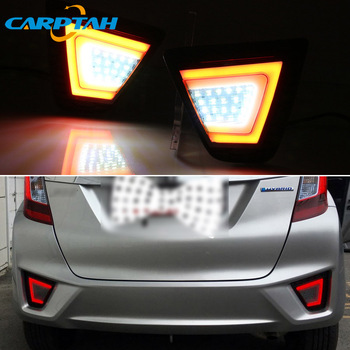 2PCS LED Rear Fog Lamp For Honda Fit Jazz 2014 - 2017 Car LED Bumper Light Brake Reflector Turn Signal Indicator Reverse Light