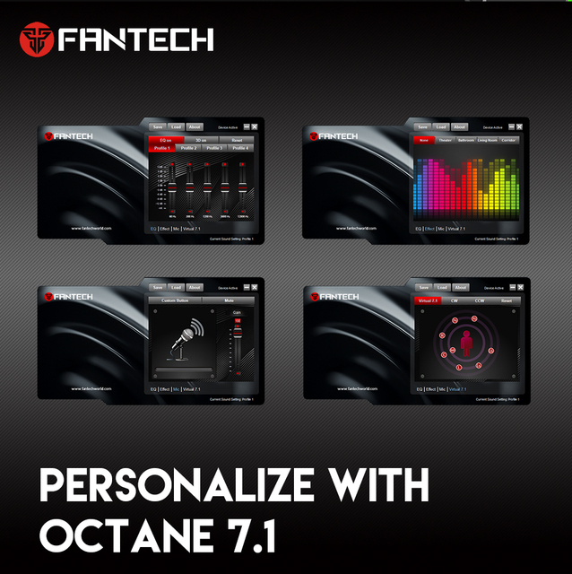 FANTECH HG23 Headphone Personalize With Octane 7.1 RGB USB Just Wired Gaming Headset Alloy Earmuffs For PC PS4 Gaming Headphones 6