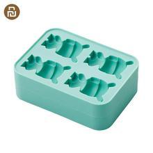 Xiaomi Mijia Mitu Ice Tray królik śliczny kształt Ice Cube 4 kostki Ice Mold zdrowe pojemniki do przechowywania foremka od Xiaomi Youpin