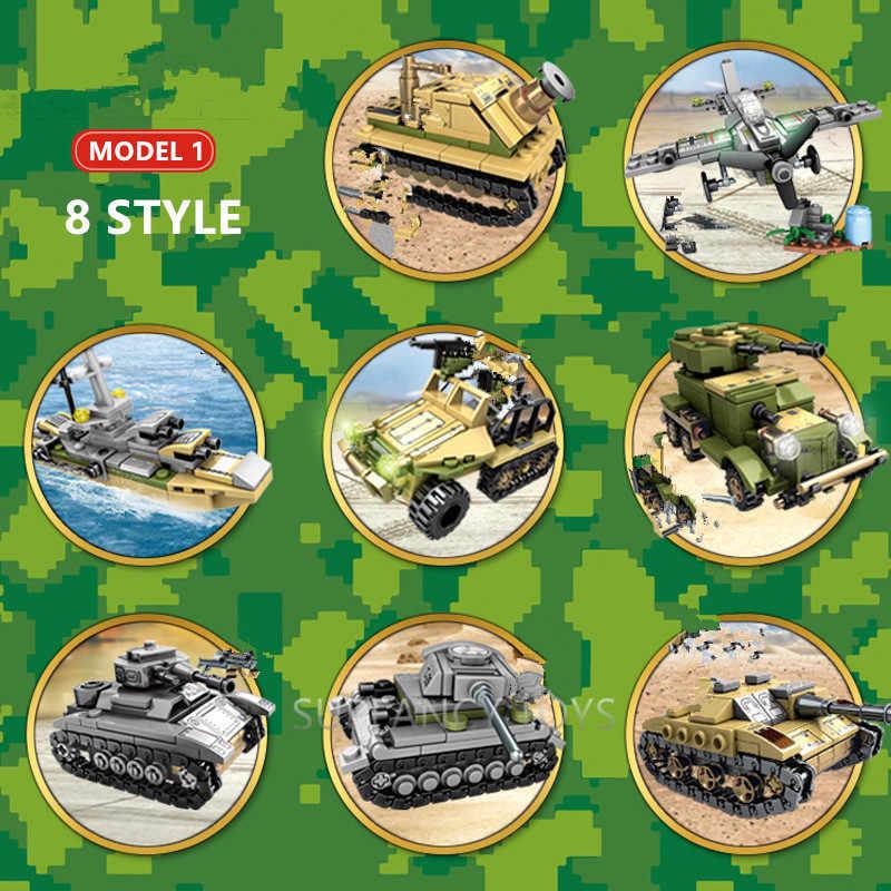 1061Pcs ทหาร Technic เหล็ก Empire ถัง Building Blocks ชุดอาวุธสงคราม Chariot Creator Army WW2 ทหาร DIY อิฐเด็กของเล่น