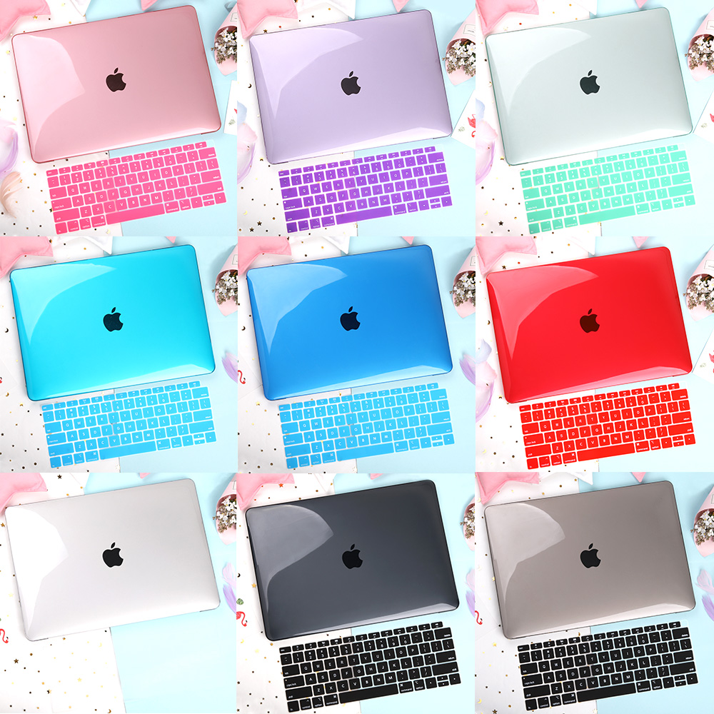 Crystal Transparent Hard Case For MacBook Air Pro Retina 11 13 15 16 Inch 2020 2019 Air Pro 13 A2179 A2159 A2141 A1932 Cover