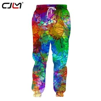 CJLM Unisex Hip Hop 3D Printed Service Oringial Colorful Ink Custom Plus Size Sweatpantss Dropshipping футболка lost ink plus lost ink plus lo035ewzcu38