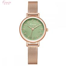 Kimio Women Fashion Quartz Wristwatch Stainless Steel Mesh Belt Watch Small Dial