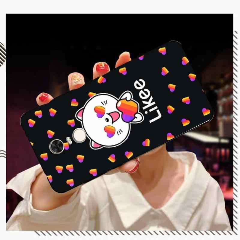 FHNBLJ Likee مضحك القط الدب الحب القلب العملاء عالية الجودة جراب هاتف ل RedMi 5 5plus 6 6pro 6a s2 4x7 7a 8 Case