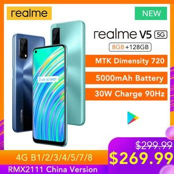 Перейти на Алиэкспресс и купить Смартфон realme V5, 8 + 128 ГБ, 720 дюйма, 90 Гц, 30 Вт, 5000 мА · ч, 48 МП