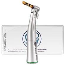 AI Max series 20:1 reduction push button low speed green ring contra angle dental implant surgery handpiece with optical fiber