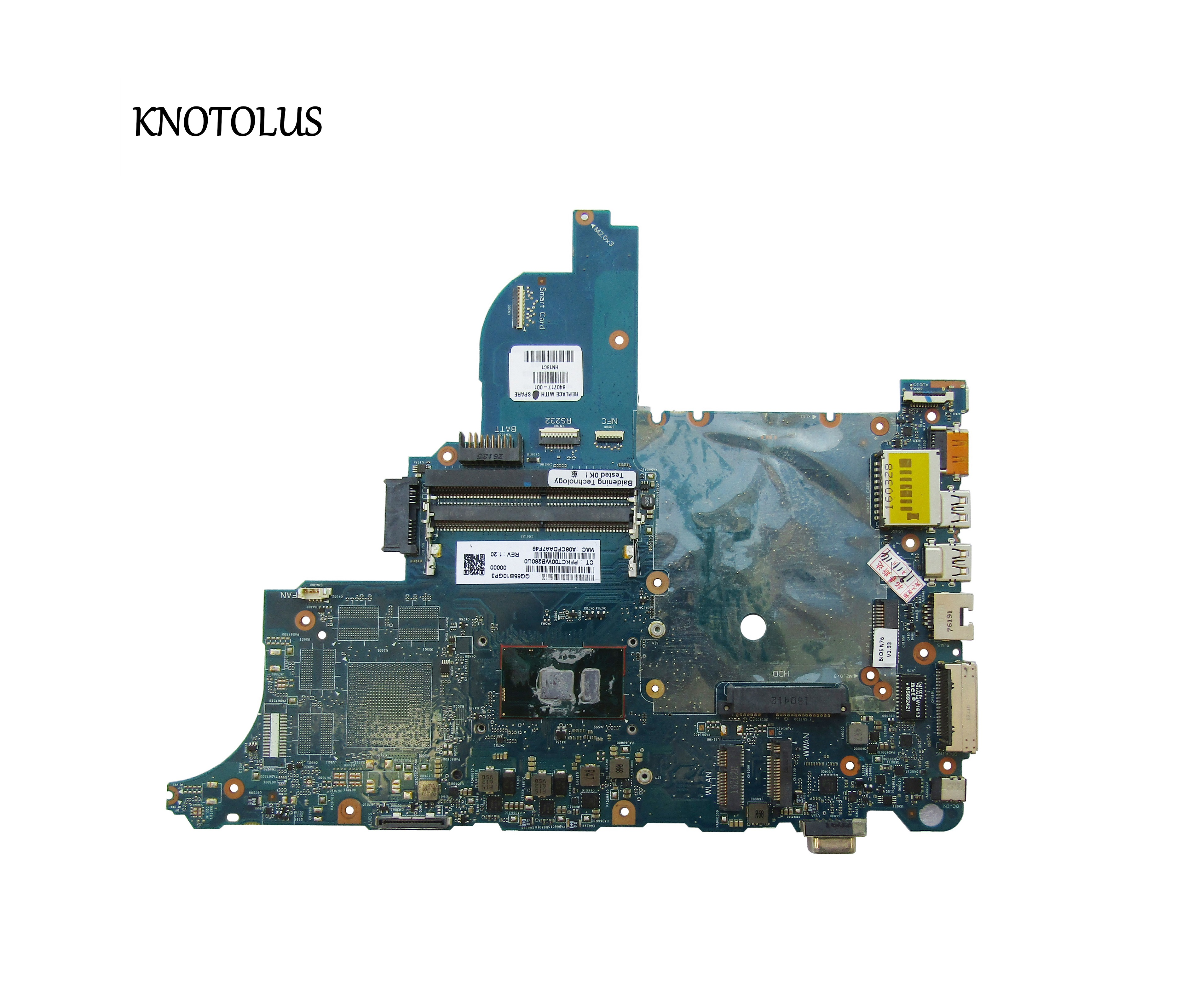840717-001 840717-501 840717-601 For HP Probook 640-G2 <font><b>650</b></font> G2 Laptop motherboard 6050A2723701-MB-A02 SR2F0 <font><b>I5</b></font>-6300U CPU image