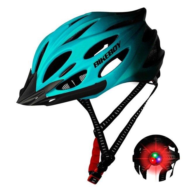 Unisex ciclismo capacete com luz bicicleta ultraleve capacete intergrally-moldado mountain road bicicleta mtb capacete seguro das mulheres dos homens 2