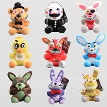 19-24cm FNAF Nightmare Freddy Bear Foxy Springtrap Bonnie Plush Toy doll Five Nights at 4 Anime stuffed toy Children Gift