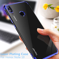 Für Huawei Honor Hinweis 10 Fall Soft Clear Abdeckung Laser Überzug Luxus TPU Kristall Telefon Fall Für huawei ehre hinweis 10 fall Capa