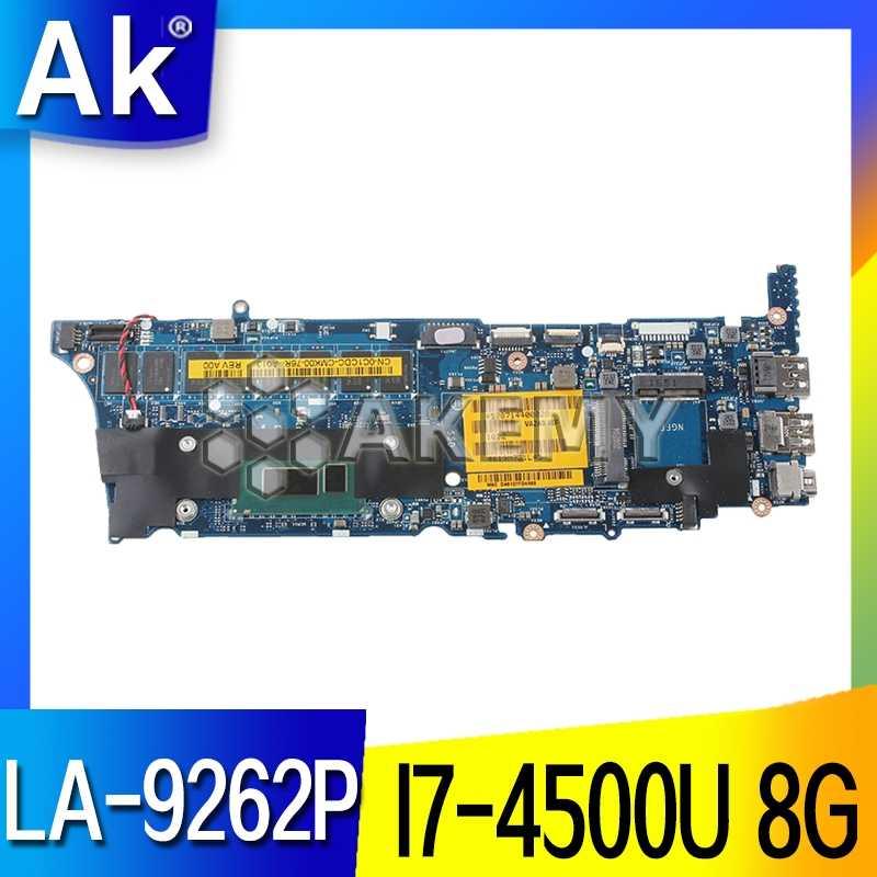 LA-9262P scheda madre For DELLa scheda madre Per For DELL XPS 12 9Q33 VAZA0 LA-9262P REV:1.0 scheda madre I7-4500U 8GB di RAM Prova di 100%