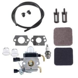 Durável kit carburador para stihl hs72 hs74 hs76 hedge trimmer cortador de grama útil reparação peças motosserra carb reconstruir ferramenta