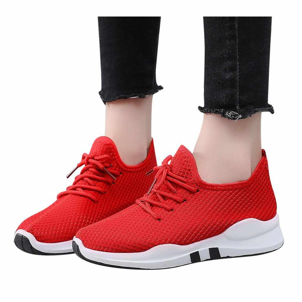 ฤดูหนาวกลางฤดูหนาวรองเท้าผ้าใบกีฬารองเท้า Breathable อุ่นกีฬารองเท้าวิ่งรองเท้ารองเท้าสบายๆผู้หญิงส้นแบนรอบหัวรองเท้า