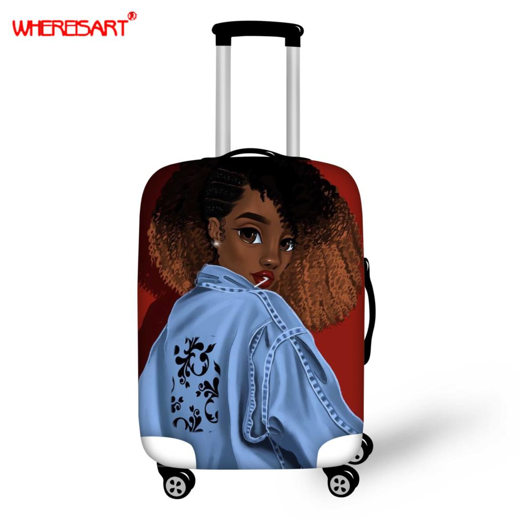WHEREISART Trolley Case Suitcase Dust Cover Travel Accessories Elastic Fabric Luggage Protective Cover Suitable18-30 Inch Case