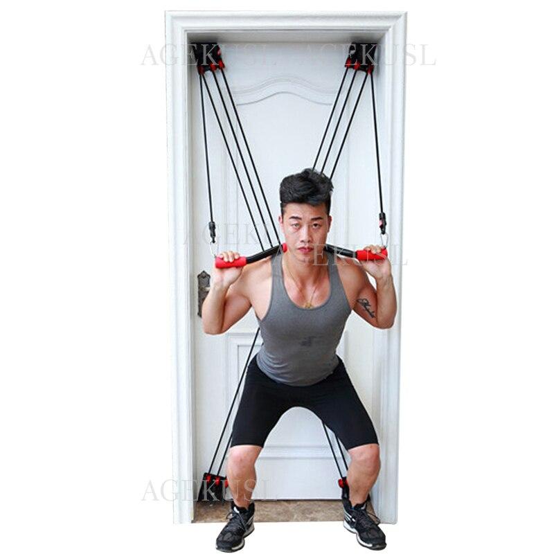 TWTOPSE 210 lbs шкив Эспандеры для тренировок фитнес трубка для йоги Тяговая веревка универсальная дверная труба для упражнений фитнес бодибилдинг