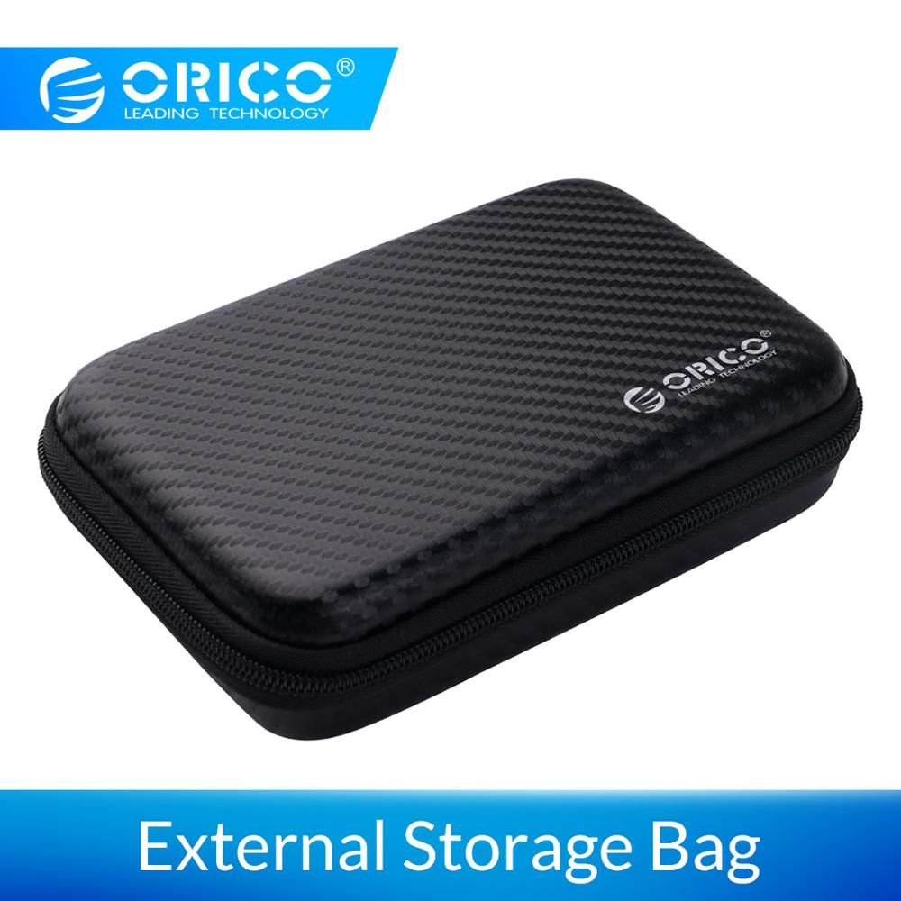 ORICO 2.5 inch External Storage Hard Case HDD SSD Bag or Seagate Samsung Hard Drive Power Bank USB Cable Charger Power Bank Case