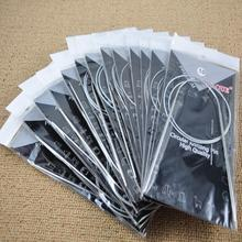 11 unids piezas 80 cm agujas circulares de acero inoxidable agujas de tejer agujas de ganchillo para tejer DIY alfileres de aguja herramientas artesanales