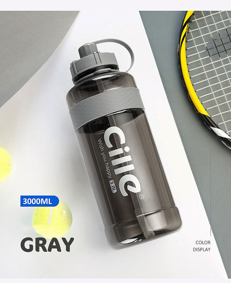 Hd1d81b205f414f6b9da7a663c03ec529D 1L 2L 3L Large Capacity Sports Water Bottles Portable Plastic Outdoor Camping Picnic Bicycle Cycling Climbing Drinking Bottles