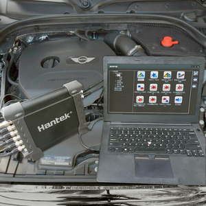 Image 4 - Hantek 1008C taşınabilir USB PC dijital depolama osiloskop 8 kanal programı jeneratörü otomotiv çok fonksiyonlu osiloskop