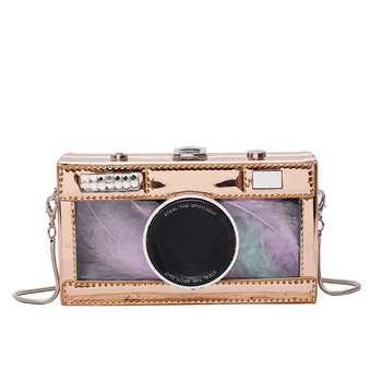 2021 Women Shoulder Bag New Tape Recorder Women's Bags Cute Funny Cartoon PU Leather Chain Crossbody Bag Female Day Clutches Q4 8