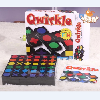 Qwirkle Interactive toys Kids Educational Chess Desktop games Assembly children wooden toy Qwirkle Adult intelligence Board game image
