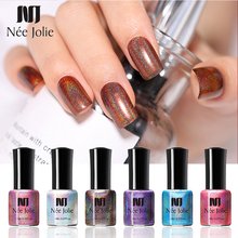 NEE JOLIE 8ml Holographic Laser Nail Art Polish Sparkling Shimmer Varnish Shinny Decoration DIY Design Tools