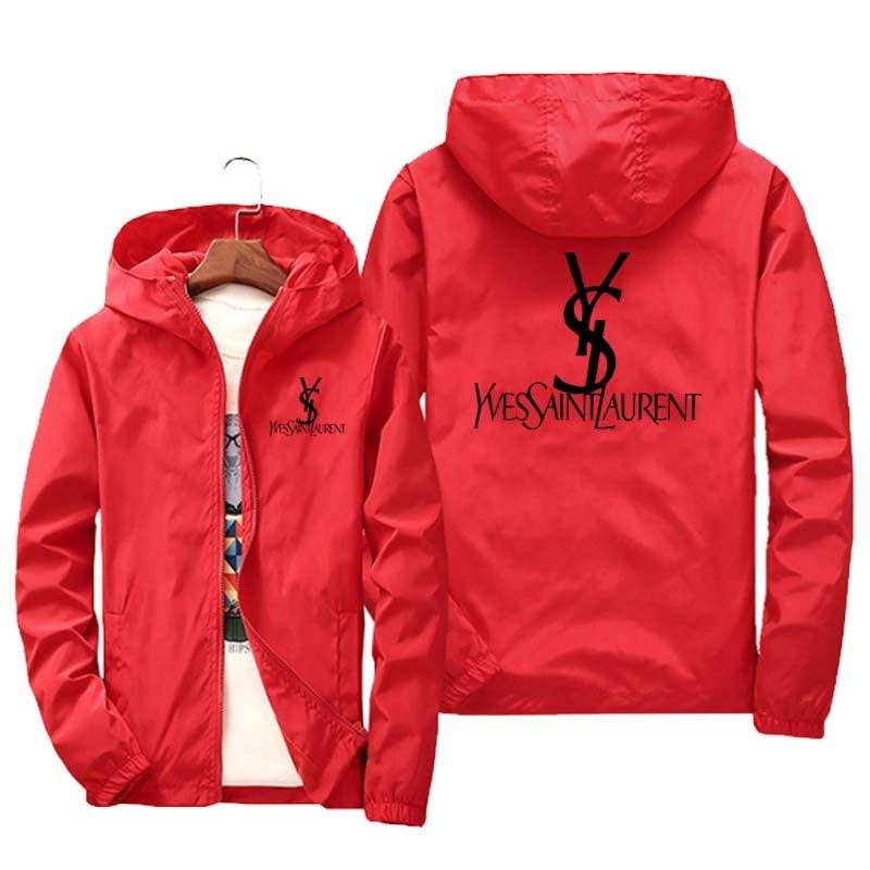 brand clothing Jacket 2020 Spring/Fall Men's Hooded Jacket Fashion Printing Windbreaker Waterproof Casual Jacket Zipper Coat 6