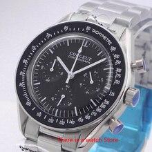 Corgeut 40mm קוורץ גברים שעון ספורט 24 שעות משולב הכרונוגרף שעון נירוסטה שעון עסקי גברים 3022
