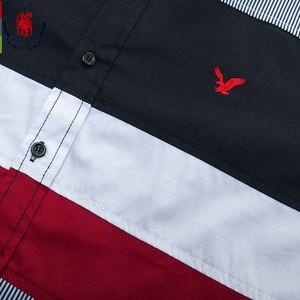 Image 3 - Fredd מרשל 2020 אביב חדש טלאי חולצה גברים מזדמן חברתי ארוך שרוול שמלת חולצה זכר 100% כותנה צבע בלוק חולצות 215
