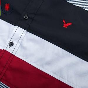 Image 3 - Fredd Marshall 2020 Spring New Patchwork Shirt Men Casual Social Long Sleeve Dress Shirt Male 100% Cotton Color Block Shirts 215
