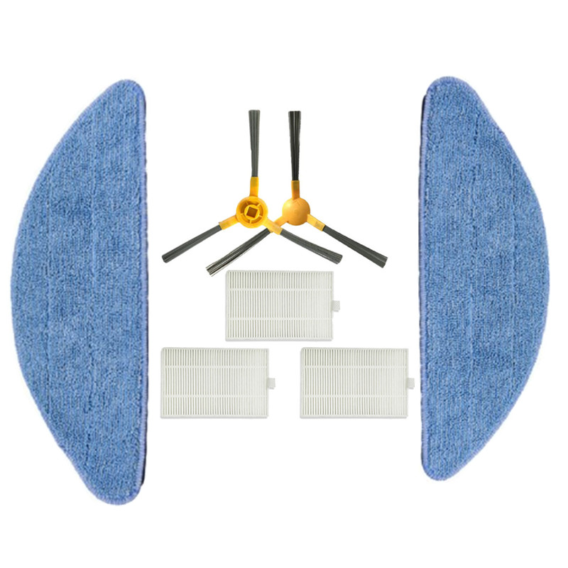 HEPA Filter Mop Cloths Side Brush For Proscenic 800T Vacuum Cleaner Parts Mop Pad Cleaning Brush Accessories