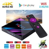 android 4 2 H96MAX Android 9.0 TV Box RK3318 Quad Core 64bit 2.4G/5.8G Wifi BT 4.0 4K HD Media Player Mini Set Top Box Voice Control H96 MAX (1)