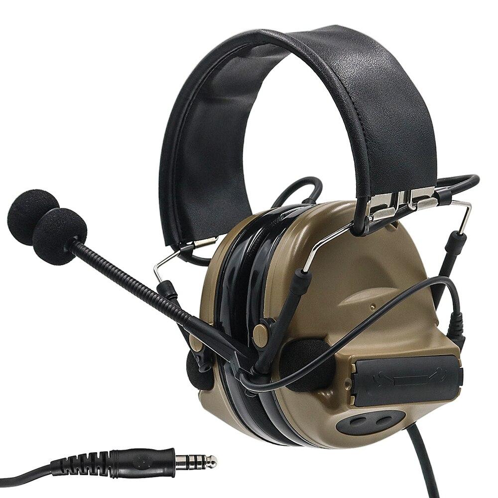 Comtac II Electronic Tactical Headset Hearing Defense Noise Reduction Sound Pickup Military Headphone Shooting Earphone