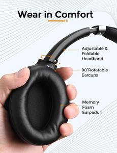 Image 5 - Mpow H12 IPO פעיל רעש ביטול אוזניות Bluetooth 5.0 אלחוטי מעל אוזן אוזניות עם CVC 8.0 מיקרופון & 40 שעות זמן משחק