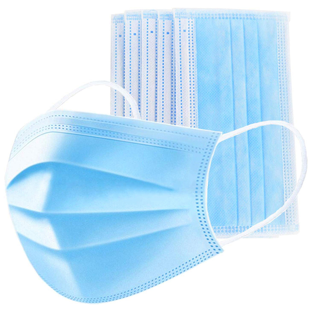 100/200/500pcs High Grade Protective Mask 3 ply Disposable Face Filter Masks Anti Dust PM 2.5 Hygiene mouth Mask 5